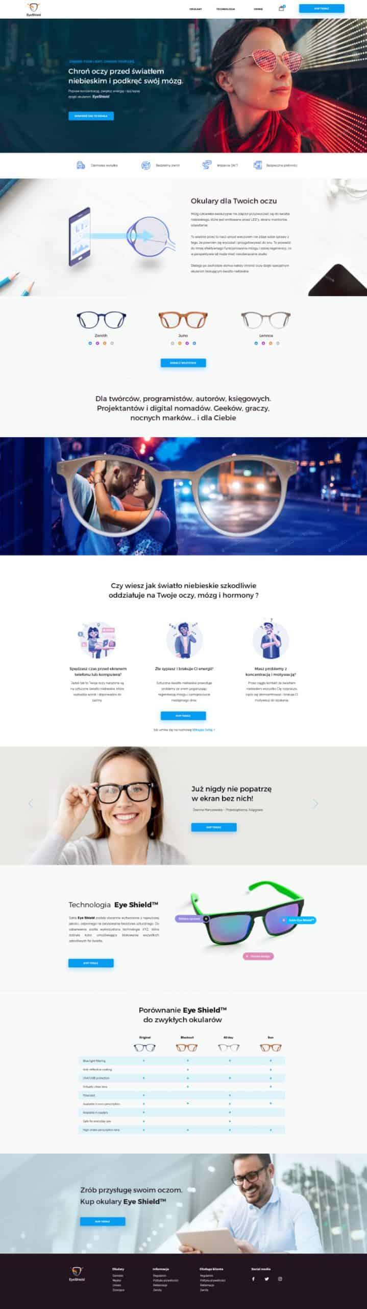 Sklep Internetowy Eye Shield - Two Colours / Projekt Graficzny